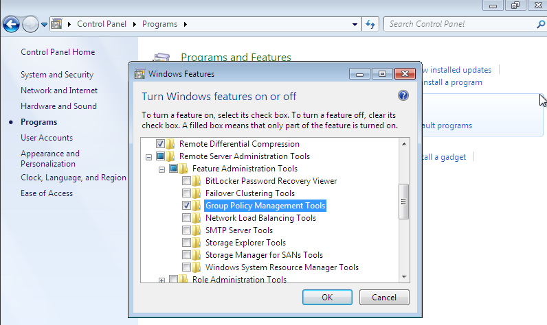 Activating the Group Policy Management tools