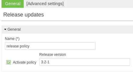 Updating UCS systems using a release policy