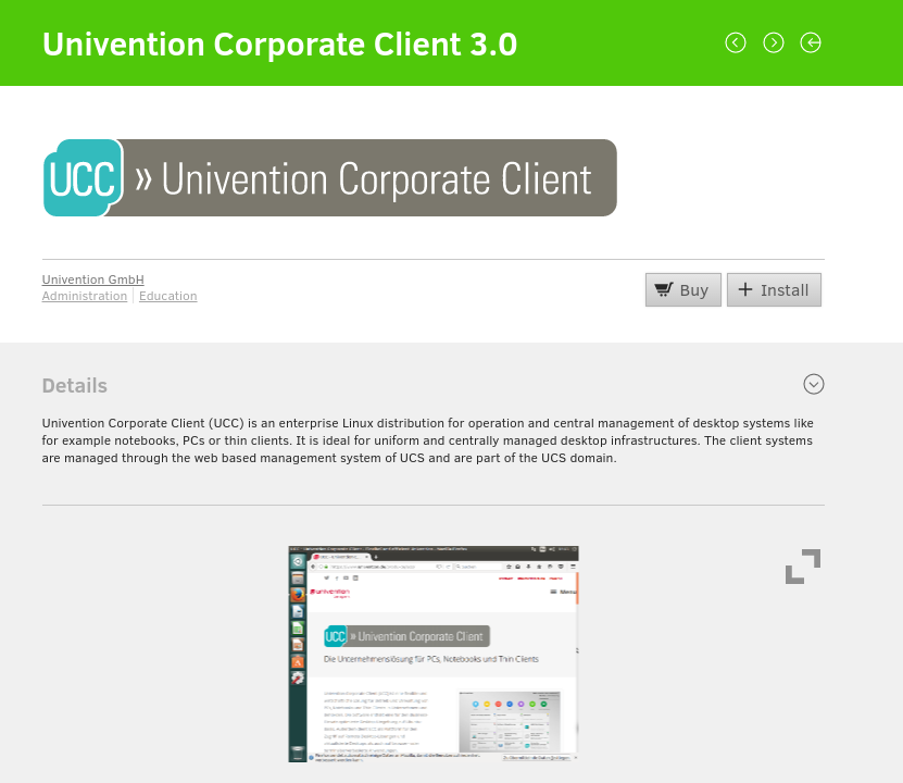 Installing UCC in the Univention App Center