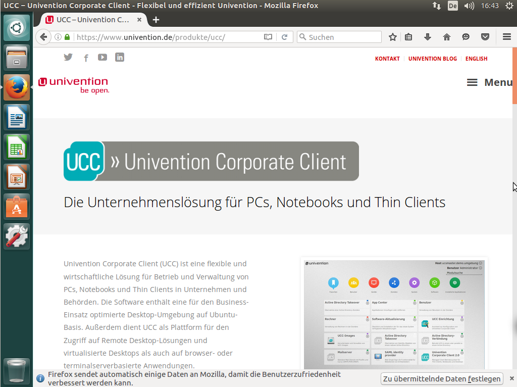 Univention Corporate Client desktop