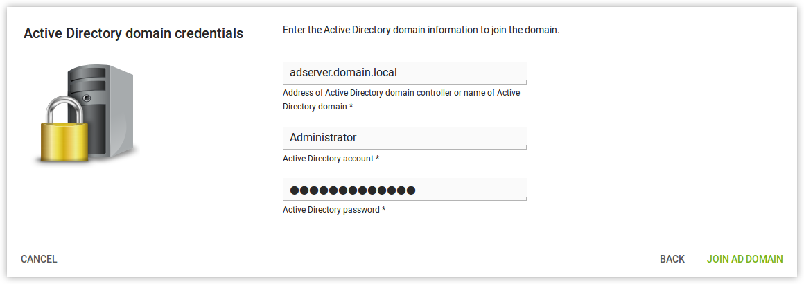 Domain join of an AD domain