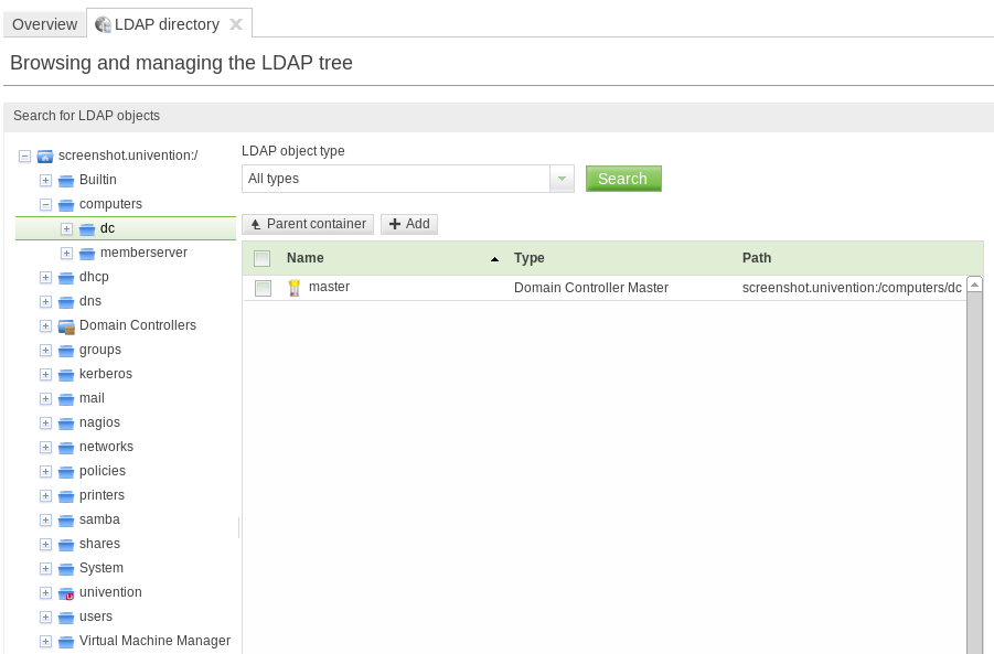 Navigating the LDAP directory