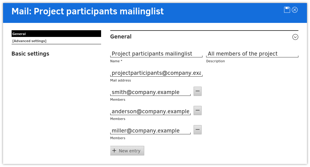 Creating a mailing list