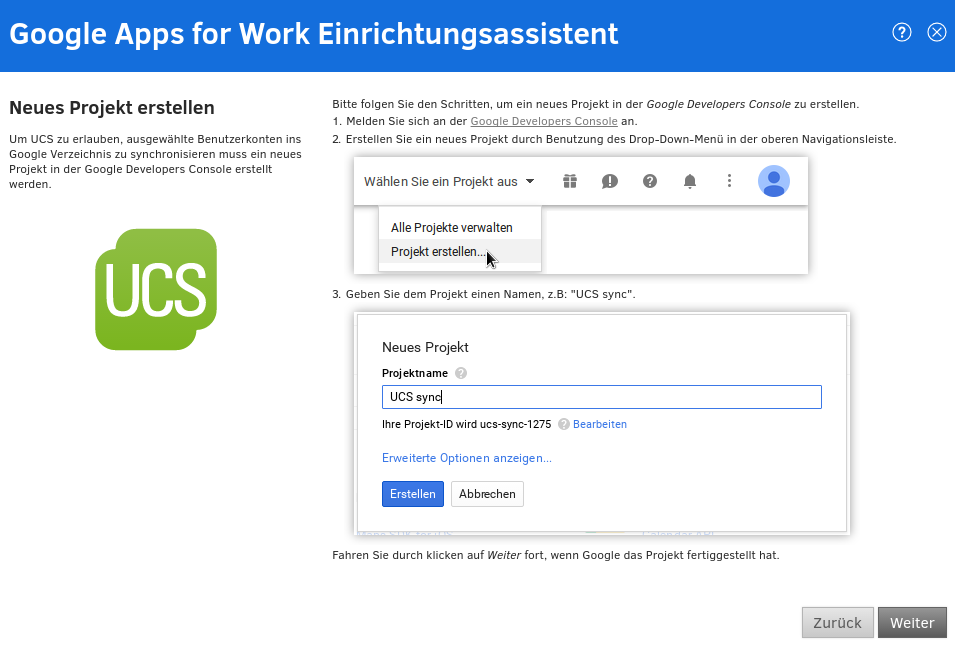 Google Apps for Work Einrichtungsassistent