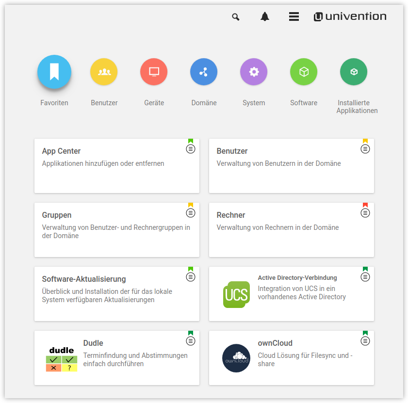 Univention Management Console