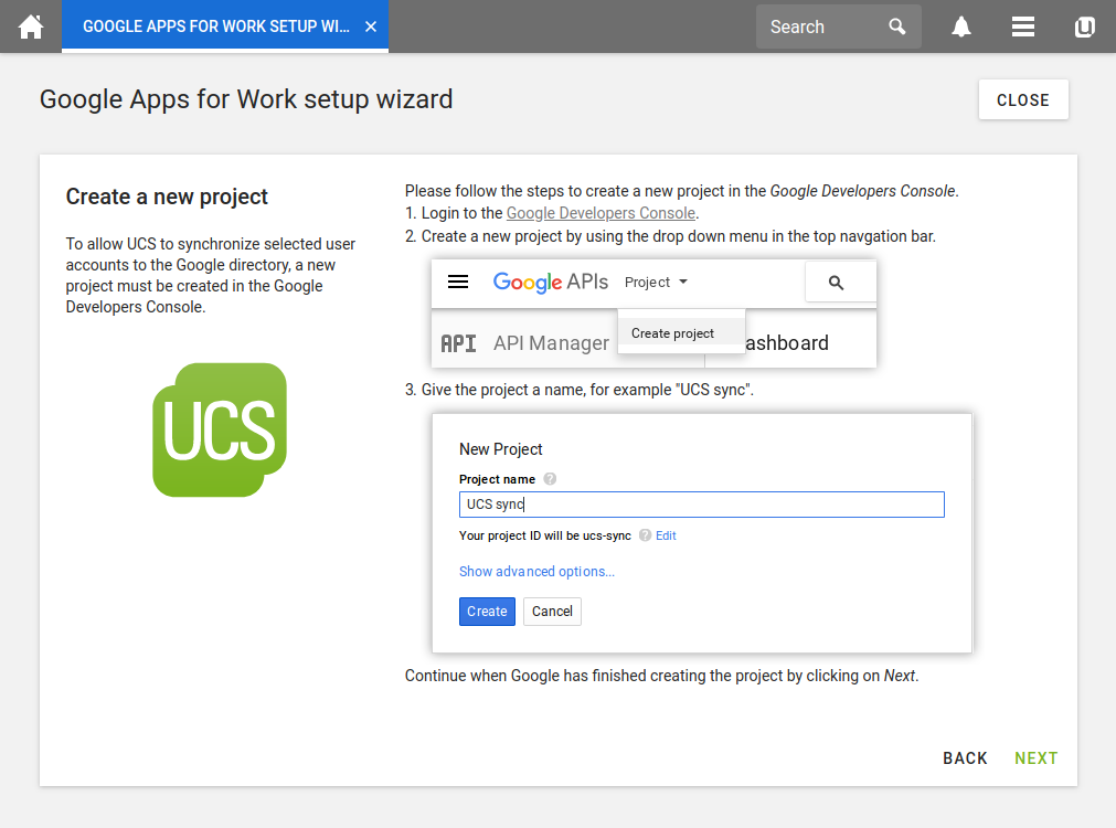 Google Apps for Work Setup Wizard