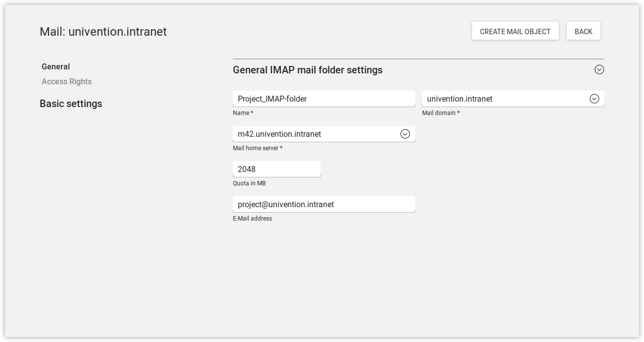 Creating a shared IMAP folder