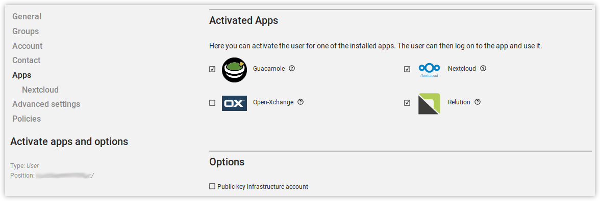 User activation for installed apps