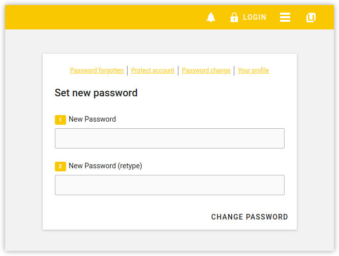 Initial user password